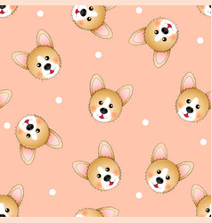 cute corgi on light orange background vector image