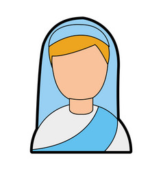 Cute nun avatar character vector