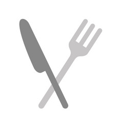 cutlery kitchen isolated icon vector image