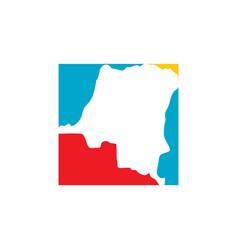 Democratic republic congo map logo icon vector