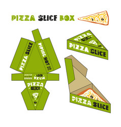 design of box for pizza slice vector image