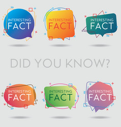 Did you know interesting fact vector