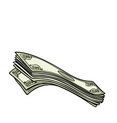 dollars us banknotes cash bank finance lottery vector image