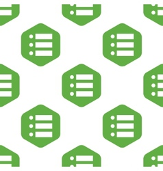 Dotted list pattern vector image