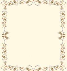 floral parchment vector image vector image