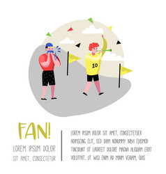 Football fans celebrating victory sport supporters vector
