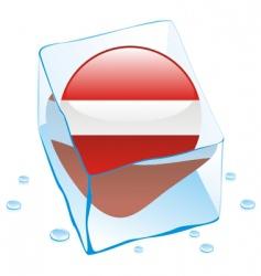 frozen button flag of Latvia vector image