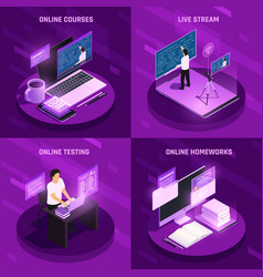 futuristic education design concept vector image