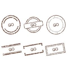 Go stamps vector image vector image