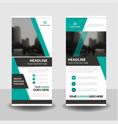 green business roll up banner flat design template vector image