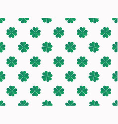 green clover leaves on white background seamless vector image