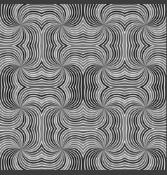 grey seamless abstract psychedelic spiral stripe vector image