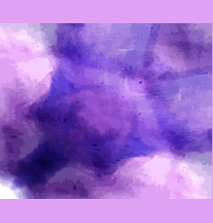 hand painted dark blue purple watercolor vector image