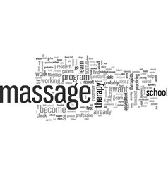 How to become a massage therapist vector