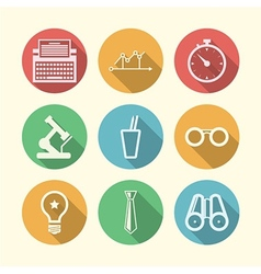 icons for freelance and business vector image