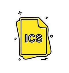 ics file type icon design vector image