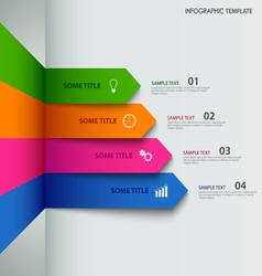 Info graphic with colorful striped indicators vector