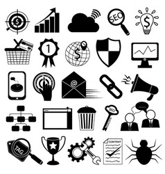 Internet Marketing Icons SEO Tools vector image