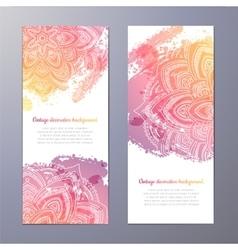 Invitation with hand drawn mandala vector image