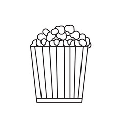 isolated popcorn outline vector image