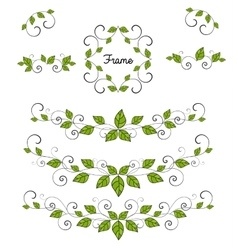 Leaves decoration vector