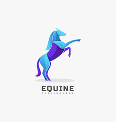 logo equine gradient colorful style vector image