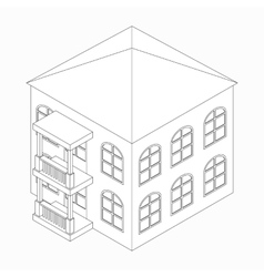 Low-rise building icon isometric 3d style vector image