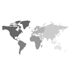 Map world continents vector