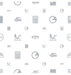 Math icons pattern seamless white background vector