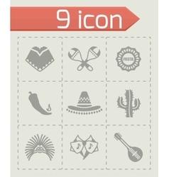 Mexico icon set vector
