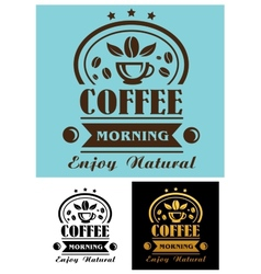 Morning coffee cup poster vector