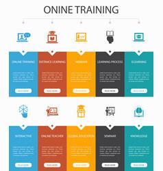 Online training infographic 10 steps ui design vector