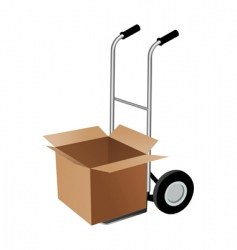 Parcel with trolley vector