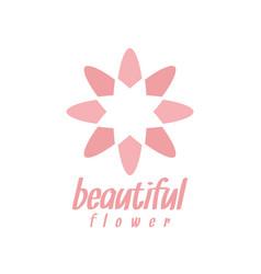 pink flower logo design inspiration vector image