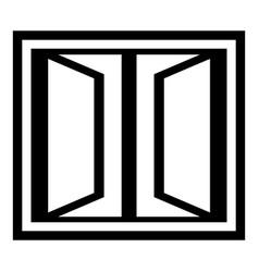Plastic window frame icon simple black style vector