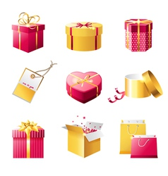 Present boxes vector