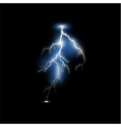 Realistic lightning vector