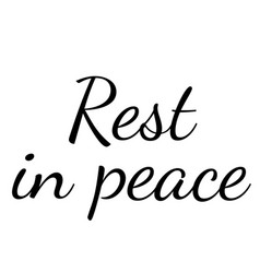 Rest in peace stamp on white background vector
