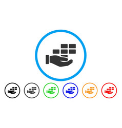 Schedule service hand rounded icon vector