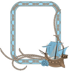 sea frame vector image