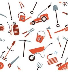 Seamless garden tools vector