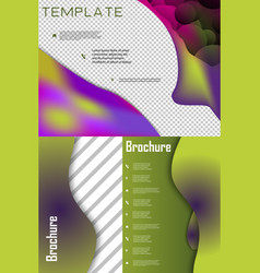 set of brochure cover brochure with color vector image