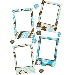 Template photo frames vector