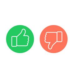 thumbs up down emblems like dislike icons vector image