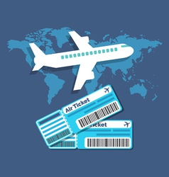 Traveling ticket booking concept flat design vector