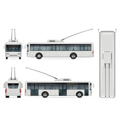 trolleybus template vector image