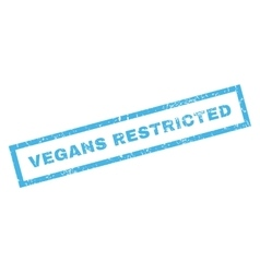 Vegans Restricted Rubber Stamp vector