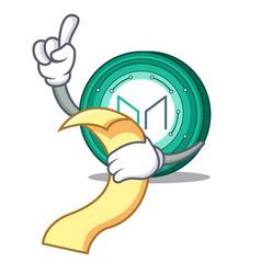 With menu maker coin mascot cartoon vector