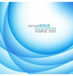 Blue abstract wavy lines vector image vector image