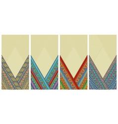 Bright ethnic vertical frames set vector image